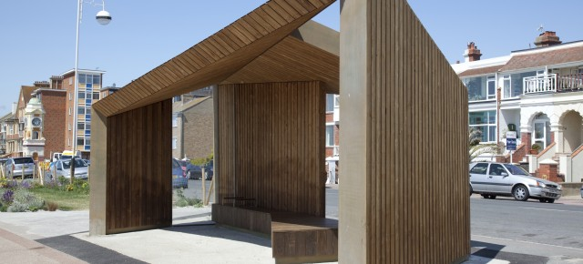 Kebony's Sustainable Seaside Shelters Unveiled at Bexhill, Sussex