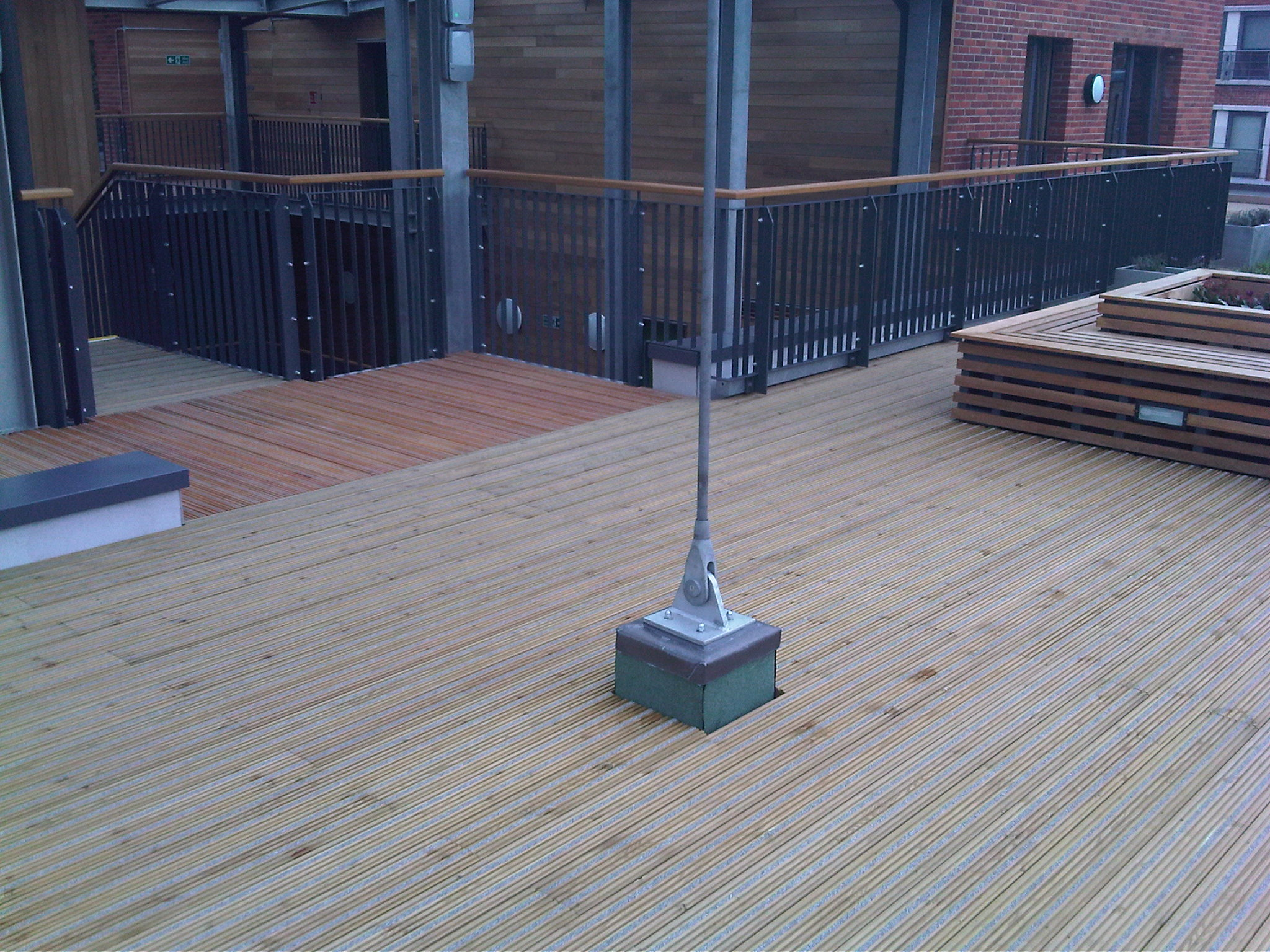 Antislip timber decking specified for London development