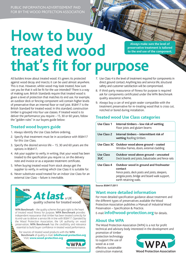 How to buy treated wood that's fit for purpose