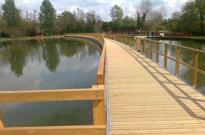 JB CitiDeck® improves historical lake access at Wicksteed Park