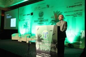 Presentation in progress at the Middle East Smart Landscape Summit 2014
