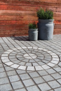 Circle Granite Cobble Mat Set