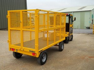 Tow-Tractor-and-Cage-Body-Trailer