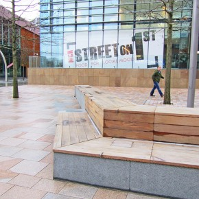 Woodscape Street Furniture for First Street in Manchester