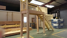 A beautiful set of external stairs made in our factory. Perfect for a Room in roof garage or car port