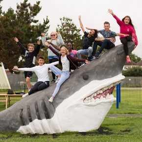 Wicksteed Shark is spotted on Sussex shores!