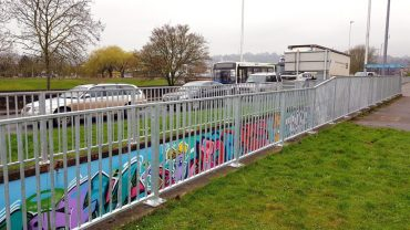 Pedestrian Guardrail installed at Exe Bridges roundabout