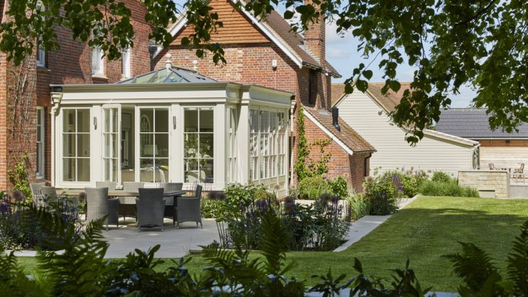 Creating a seamless transition between a glazed extension and your garden
