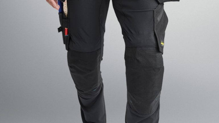 Detachable Holster Pockets In Snickers' New LiteWork Stretch Trousers