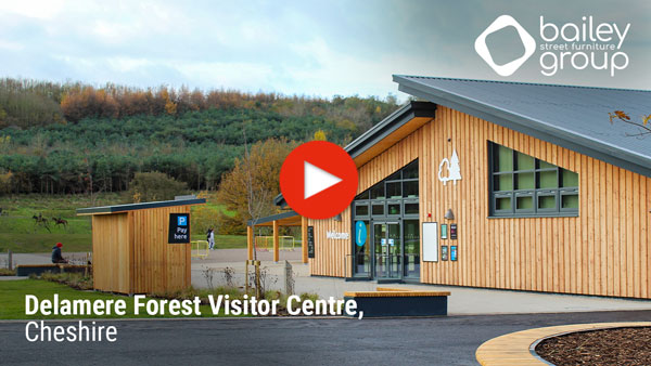 Bailey Streetscene provides a large outdoor covered seating area and resting spots at the scenic grounds of the brand-new Delamere Forest Visitor Centre.