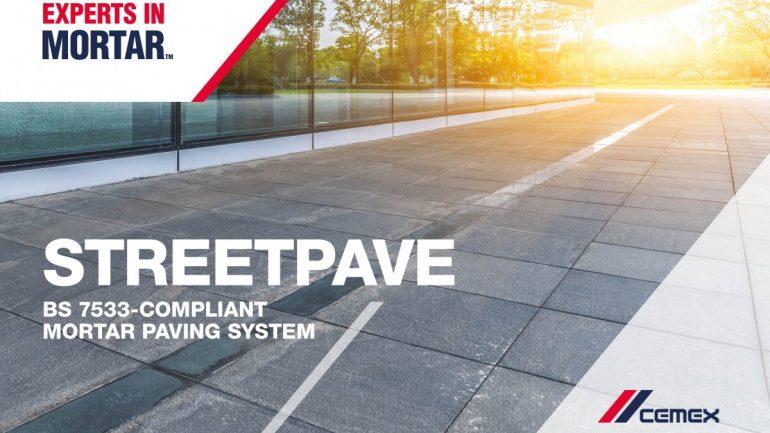 CEMEX's three stage mortar paving system